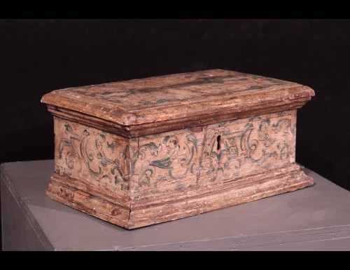 Lacquered Wooden Box, Italy,17th Century - Objects of Vertu Style Louis XIV