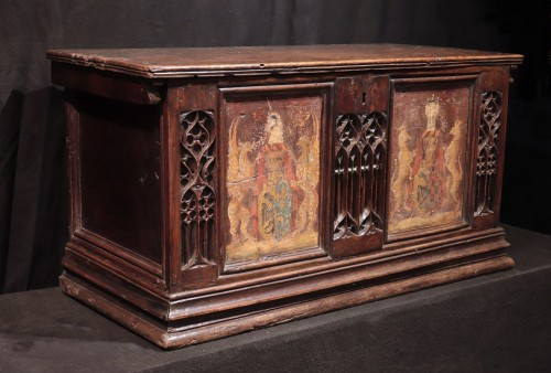 Gothic  Chest, Italy 15th century - Furniture Style Middle age