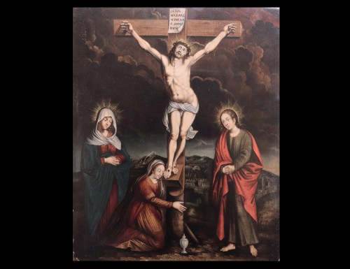 Crucifixion - Flemish master of the 16th century - Paintings & Drawings Style Renaissance