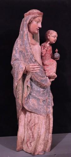 Sculpture  - Wooden Sculpture, Madonna And Child, 15th Century