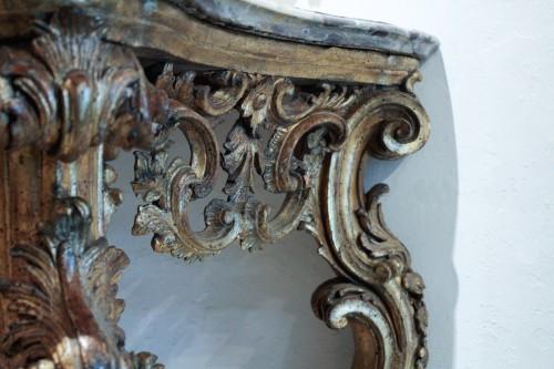 Italian 18th century gilt wood console table  -