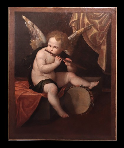 Francesco Vecellio (ca 1475-1560 Ca) - Angel Musician - Paintings & Drawings Style Renaissance