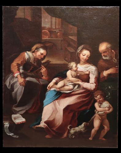 Ventura Salimbeni (Siena 1568-1613) - Holy Family - Paintings & Drawings Style Renaissance