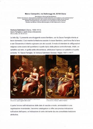 Renaissance - Ventura Salimbeni (Siena 1568-1613) - Holy Family