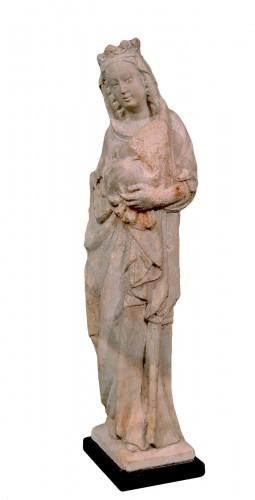 "Marble sculpture ""Madonna with the Child"", italy, 14th century"
