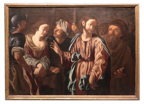Christ And The Adulterous Woman - Paolo Finoglio, Workshop (17th Century)