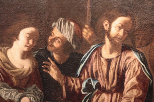 Christ And The Adulterous Woman - Paolo Finoglio, Workshop (17th Century)  - Paintings & Drawings Style Renaissance