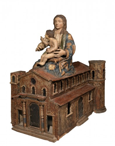 Virgin and Child  in the holy house of Loreto, Italy 17th century