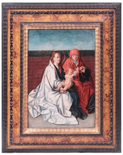 Virgin And Child with Saint Anne - Flemish Master circa 1520