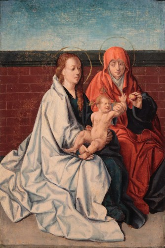 Virgin And Child with Saint Anne - Flemish Master circa 1520 - Paintings & Drawings Style Renaissance