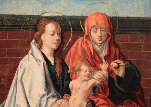 Paintings & Drawings  - Virgin And Child with Saint Anne - Flemish Master circa 1520