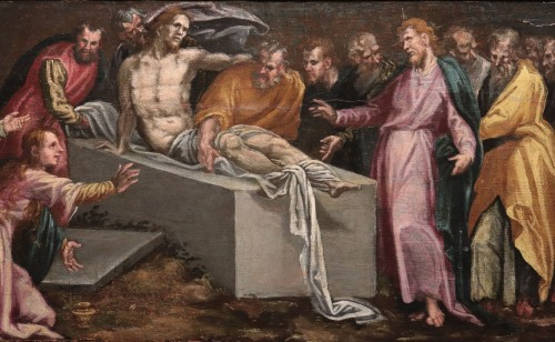 Resurrection Of Lazarus - Pauwels Francken (1540 -1596) - Paintings & Drawings Style Renaissance