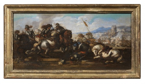 Paintings & Drawings  - Jacques Courtois known as Borgognone (1621-1676) - Battles