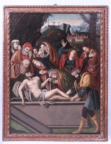 "BARTOLOMEO SUARDI ""BRAMANTINO"" and workshop - (Milan 1465-1530) Deposition"