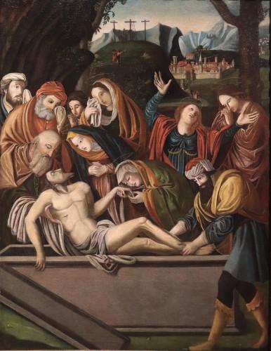 "BARTOLOMEO SUARDI ""BRAMANTINO"" and workshop - (Milan 1465-1530) Deposition - Paintings & Drawings Style Renaissance"