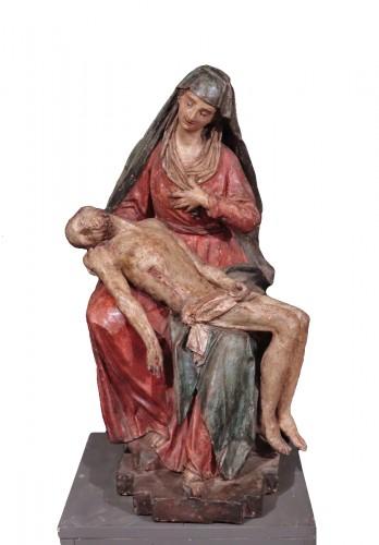 "Polychrome terracotta sculpture, ""Pietà"", Italy 16th century"