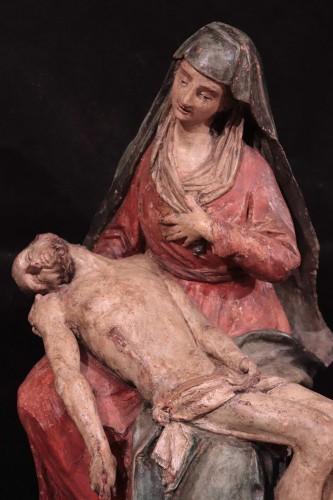 "Sculpture  - Polychrome terracotta sculpture, ""Pietà"", Italy 16th century"