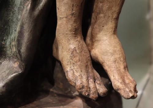"""Renaissance - Polychrome terracotta sculpture, """"Pietà"""", Italy 16th century"""