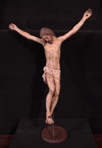 Wooden Christ With Articulated Arms, Florence '400 - Sculpture Style Middle age
