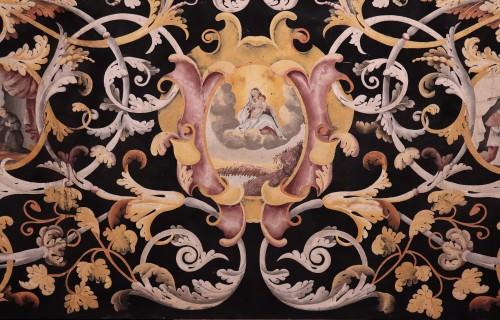 Polychrome scagliola's Table, Italy (Carpi) 17th century -