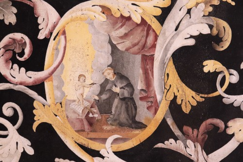 17th century - Polychrome scagliola's Table, Italy (Carpi) 17th century