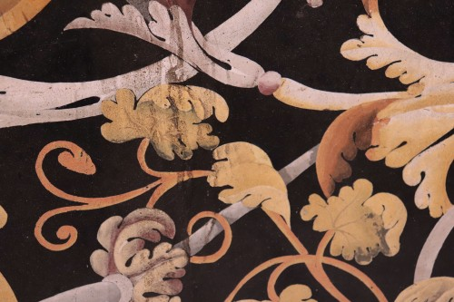 Polychrome scagliola's Table, Italy (Carpi) 17th century - Louis XIV