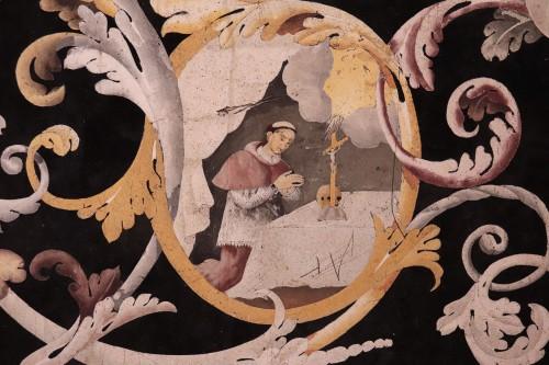 Louis XIV - Polychrome scagliola's Table, Italy (Carpi) 17th century