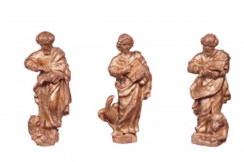 "Gilded wood sculptures: ""Evangelists"", Italy, 16th century"