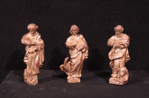 "Gilded wood sculptures: ""Evangelists"", Italy, 16th century - Religious Antiques Style Renaissance"