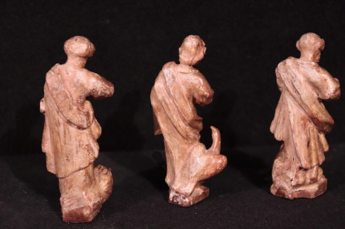 "Antiquités - Gilded wood sculptures: ""Evangelists"", Italy, 16th century"