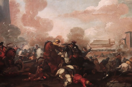 Marzio Masturzo (Rome 17th century) - Battle - Paintings & Drawings Style Louis XIV