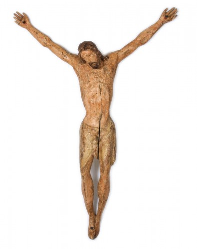 Polychrome Wood Christ, Tuscany 13th Century