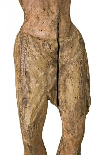 Sculpture  - Polychrome Wood Christ, Tuscany 13th Century