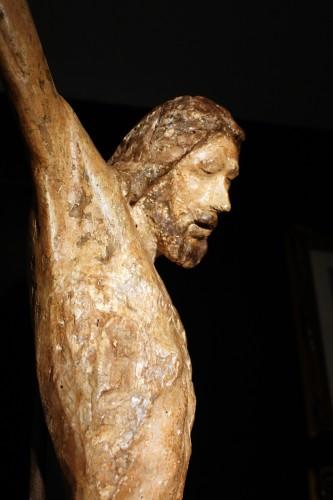 Polychrome Wood Christ, Tuscany 13th Century -