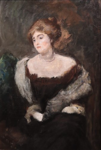 Emilio Gola (1851-1923) - Portrait - Paintings & Drawings Style Louis-Philippe
