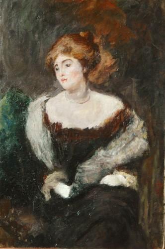 Paintings & Drawings  - Emilio Gola (1851-1923) - Portrait