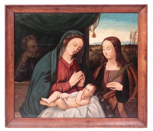 Francesco Rizzo Da Santacroce (1485-1545) - Holy Family