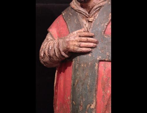 "Sculpture  - Wooden sculpture ""Sant' Ambrogio"", Lombardy XVI century"