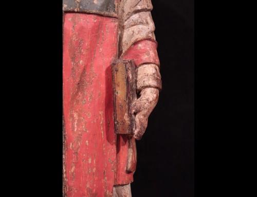 <= 16th century - Wooden sculpture &quot;Sant&#039; Ambrogio&quot;, Lombardy XVI century