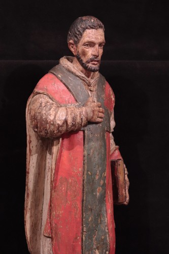 "Wooden sculpture ""Sant' Ambrogio"", Lombardy XVI century - Renaissance"