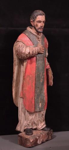 "Renaissance - Wooden sculpture ""Sant' Ambrogio"", Lombardy XVI century"
