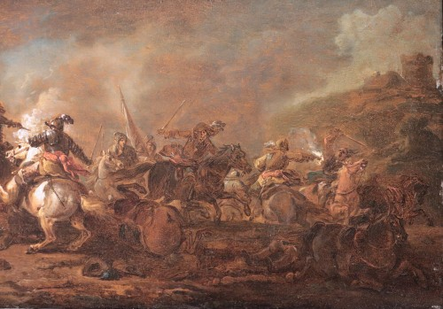 Paintings & Drawings  - Philips Wouwerman (Haarlem 1619 - 1668) - Batlle