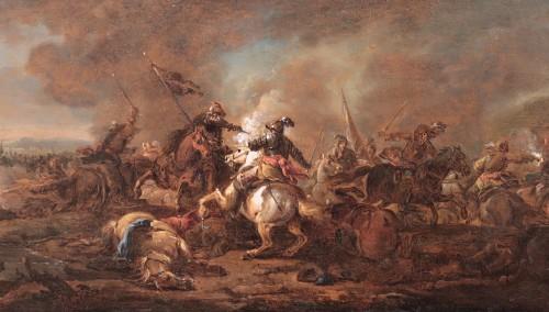 17th century - Philips Wouwerman (Haarlem 1619 - 1668) - Batlle