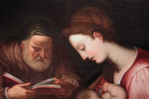 Giovanni Battista Paggi (Genoa 1554-1627) - Holy Family - Paintings & Drawings Style Renaissance