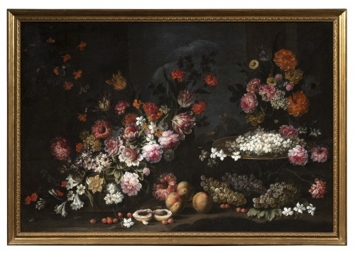 Paintings & Drawings  - Pair Of Still Life with flowers and fruits, Northern Italy, 17th Century