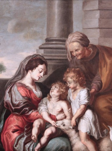 Cornelis Schut the Elder (1597-1655)  - Holy Family - Paintings & Drawings Style Louis XIII