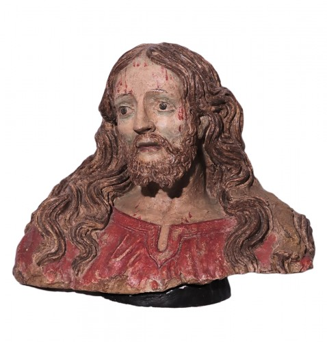 Terracotta Bust of Christ, Italy, 16th century