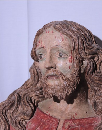 Terracotta Bust of Christ, Italy, 16th century - Sculpture Style Renaissance