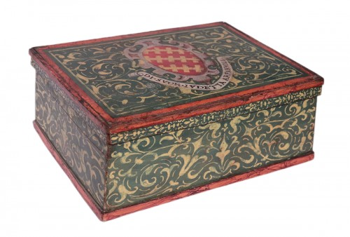 Lacquered box, Tuscany 17th century