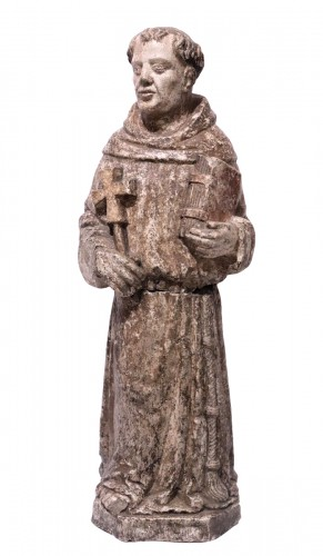 "Stone sculpture ""St. Francis"", Venice, 15th cent."